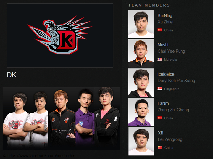 DK new lineup confirmed: Burning, Mushi, iceiceice, LaNm
