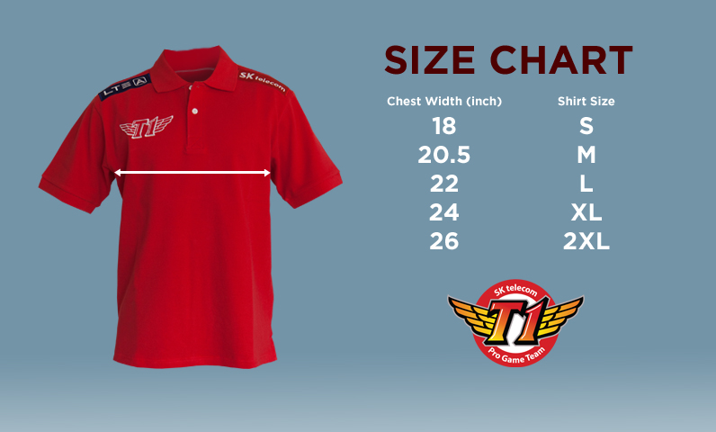 b08cabd4 SK Telecom T1 2013 Team Shirt. $64.95 USD. Sizing Information