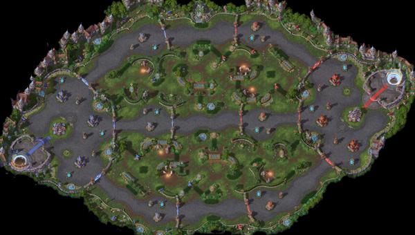 Heroes Of The Storm Map Guide Garden Terror